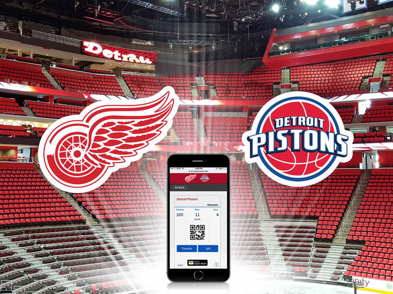 Detroit Red Wings & Pistons - mobile ticketing