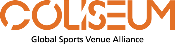 coliseum stadium, sports venue and clubs icon