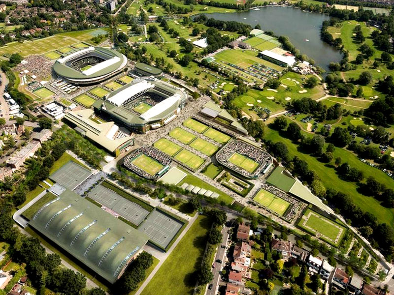 Wimbledon AELTC - aerial view update August 2019
