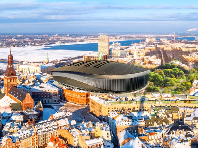 Riga Latvia new hockey arena