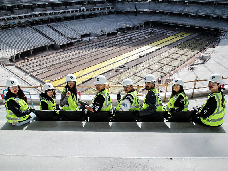 Allegiant Stadium first seats installed