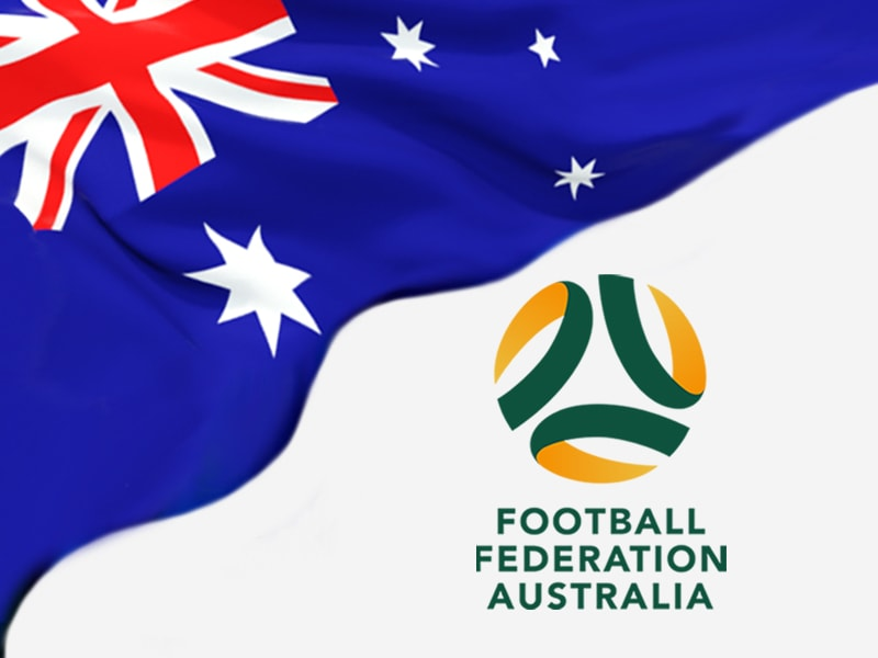 Football Federation Australia Flag