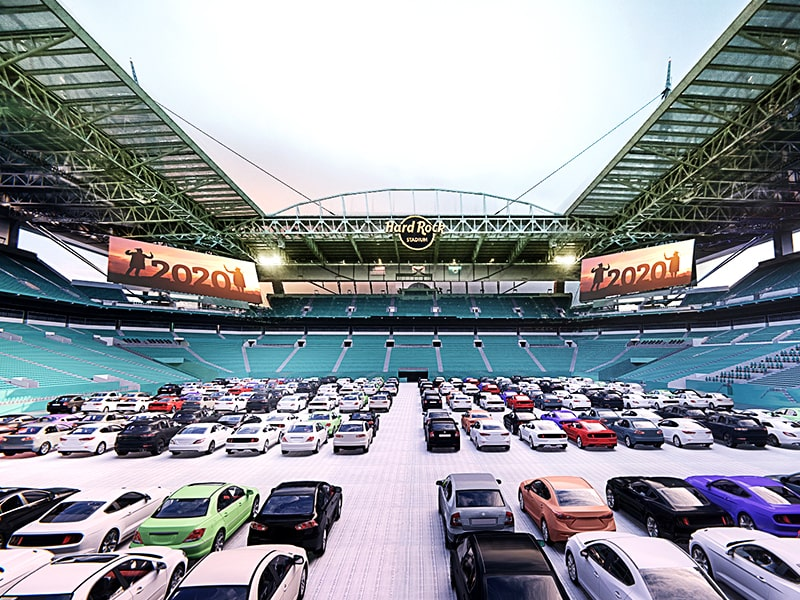 Hard Rock Stadium drive-in