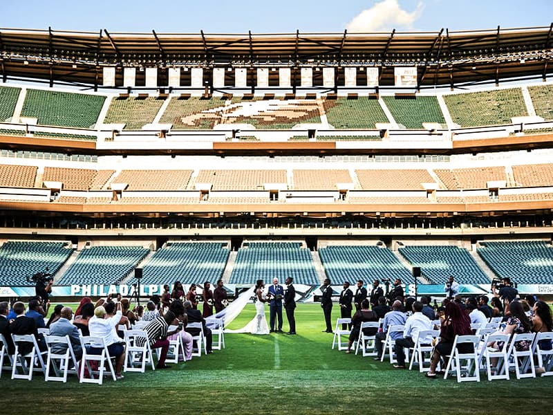 Philadelphia Eagles stadium as wedding venue