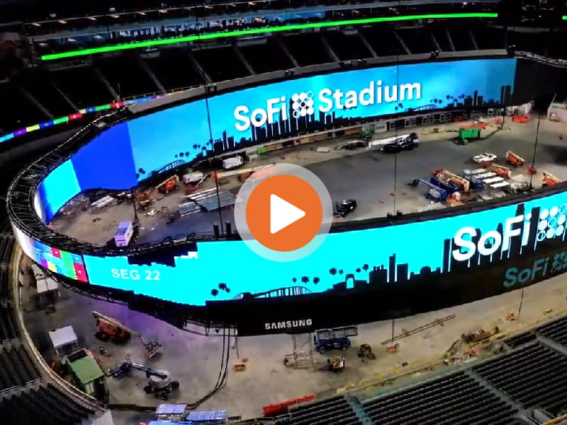 SoFi Stadium Video Board