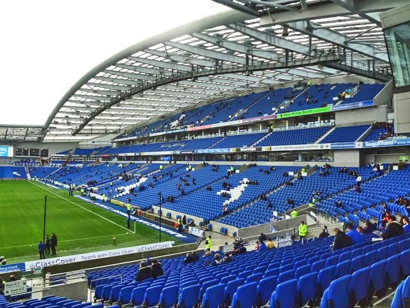 Brighton vs Chelsea as test event with fans Aug 2020