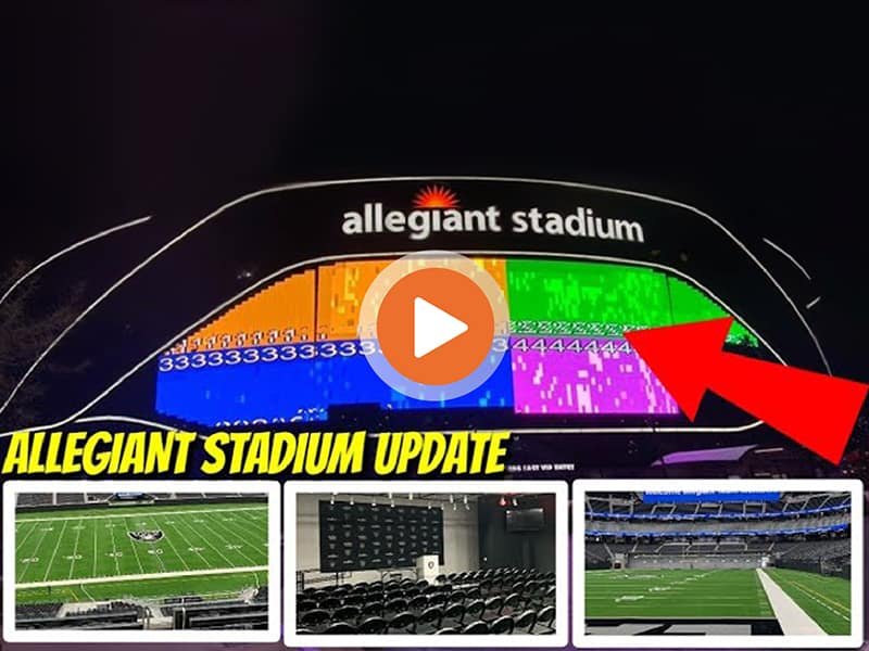 Allegiant Stadium video board