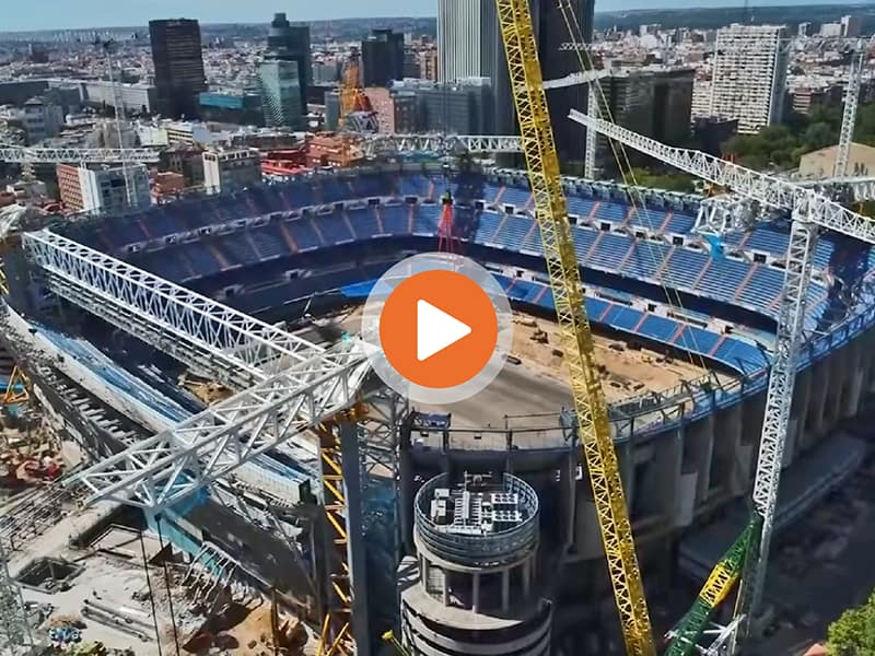 Real Madrid Bernabeu construction update Sept 2020