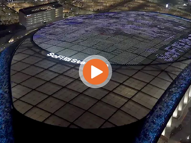 SoFi Stadium roof projection