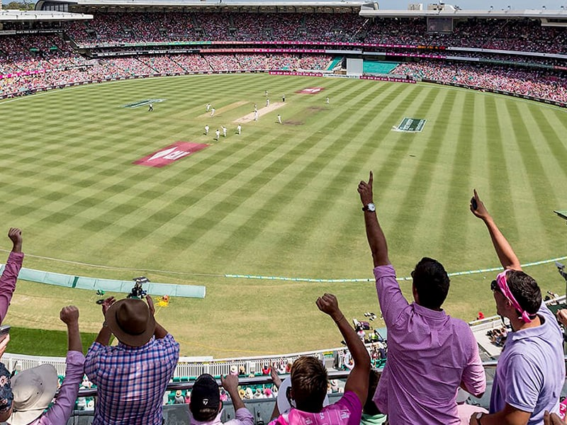 Sydney Cricket Ground with only 25 per cent capacity