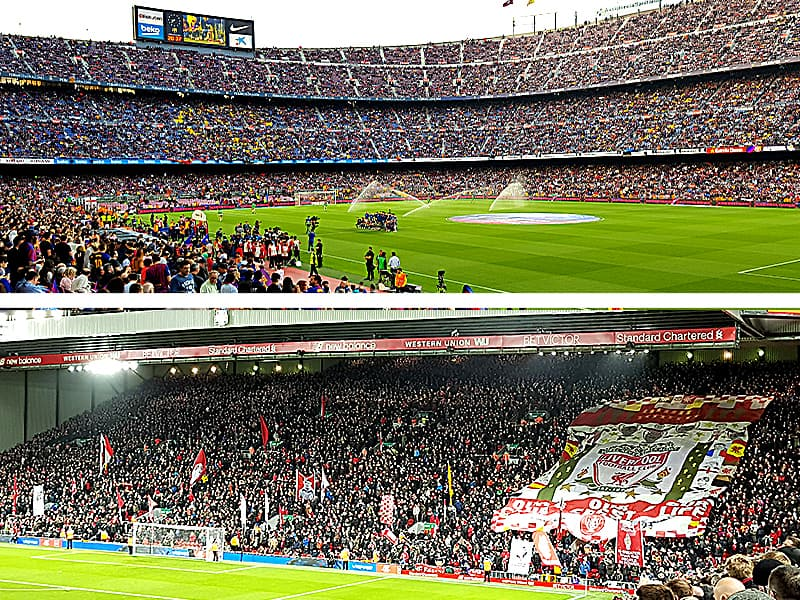 Anfield and Camp Nou will become vaccination centers