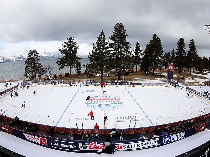 NHL Lake Tahoe outdoor games summary