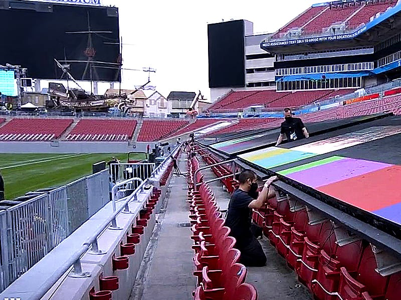 Raymond James Stadium preparations for Super Bowl 55