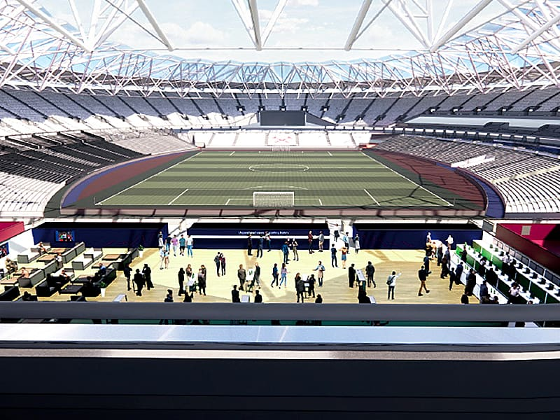 London Stadium with new event deck