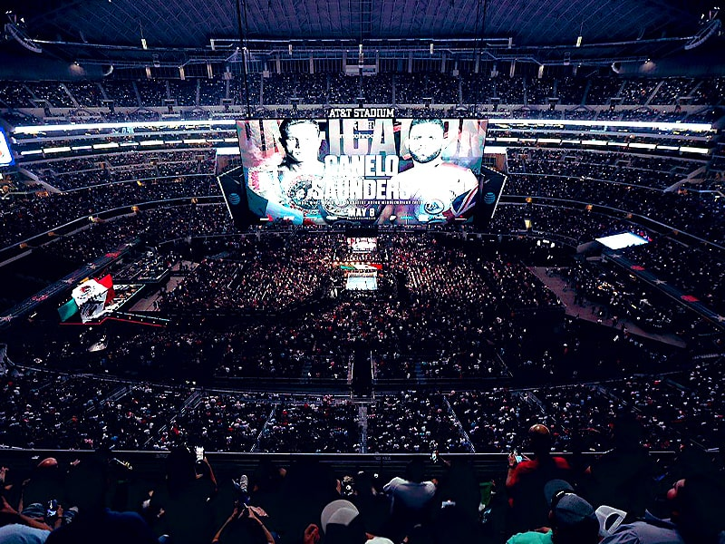 Boxing fight at AT&T stadium sets attendance record